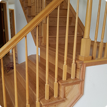 Light Wood Steps - Engineered Hardwood Flooring Boulder County CO